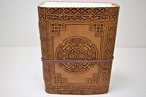 Genuine Leather Bound Journals 5'x7' Celtic Knot - Anitque