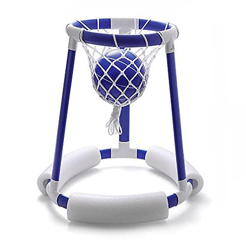 Lixada Aro de Baloncesto para Piscina,Juego de Baloncesto de Agua Flotante,Juguete para Piscina con 2 Pelotas de Baloncesto,Bomba de Aire para Niños,Adultos,Verano