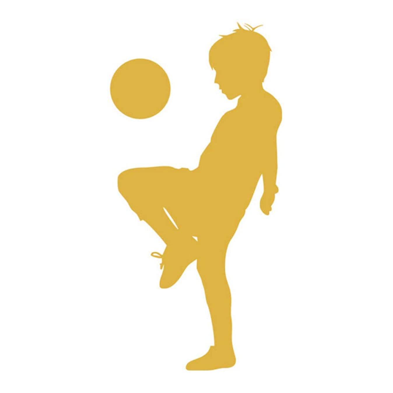 Waaaha1 Boy Playing Soccer Wall Stickers Football Kids for Children Room Decoration 43cmx87cm r0601744615