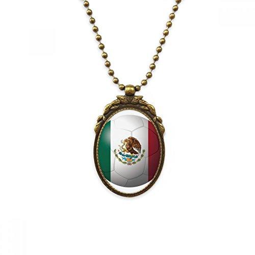 DIYthinker - Collar con Colgante de la Bandera Nacional de México de...