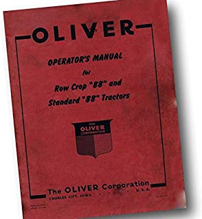 Oliver 88 Tractor Owners Operators Manual Standard & Row Crop Adjustments