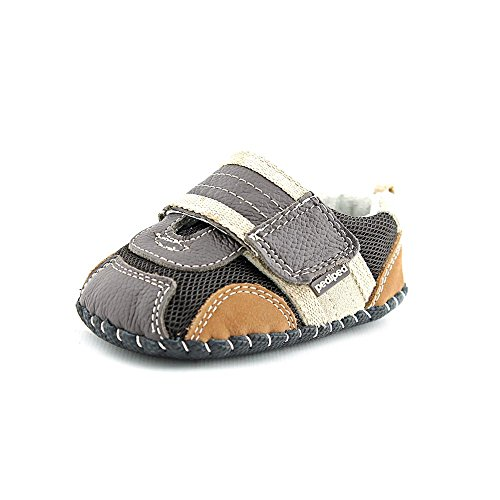 pediped Originals Adrian Sneaker (Infant),Brown,Small (6-12 Months)