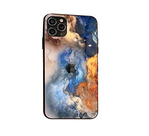 Svnaokr Compatible con funda de iPhone, pintura de render, espejo de cristal, silicona, protección de cuerpo entero, carcasa resistente a los golpes (estilo 1, para iPhone XR).