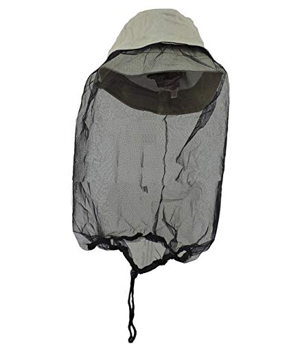 Khaki Boonie Outdoors Hat with Mosquito Netting L/XL