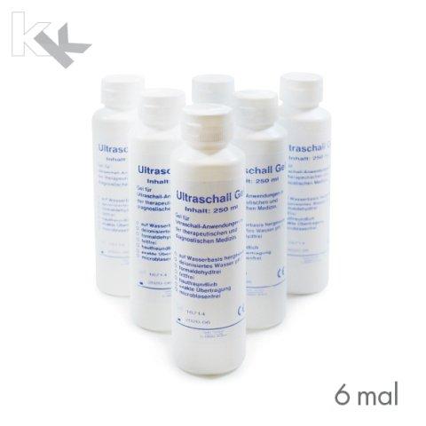 Ultraschallgel KK Kontaktgel Sonogel 6 x 250 ml Flasche