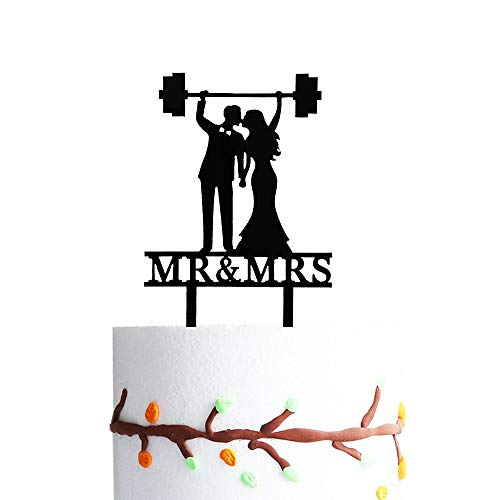 Weightlifting Kiss Couple Cake Topper, Funny Gym Couple Cake Topper, Gym Mr & Mrs Cake Topper, Gym Cake Topper, Fitness Cake Topper