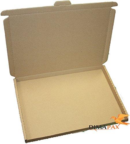 50 x Grossbrief Kartons 350x250x20 mm braun Schachtel Verpackung Box Deutsche Post Brief dimapax