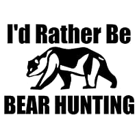 LGLGXR 13.3cmx9.2cm私はむしろ狩猟動物の車のステッカービニールをクマにしたい (Color Name : BLACK)