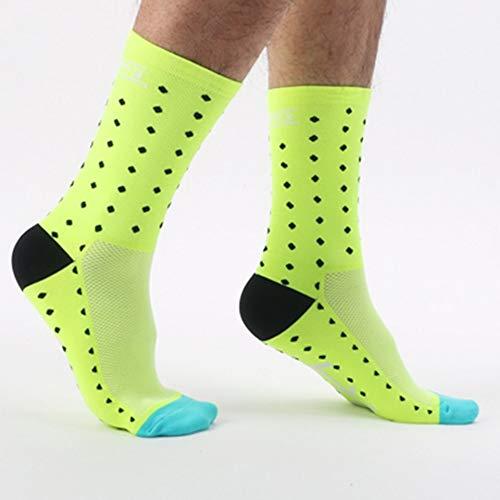 Calcetines amarillos fosforito para baloncesto