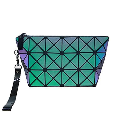 Sacs de stockage de sac à main géométrique de grande capacité de portefeuille rhombique de sac cosmétique,Luminous,24X16CM