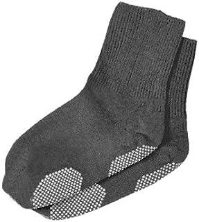 エンゼル 履き口ゆるーい靴下 すべり止め付 22-24cm グレー