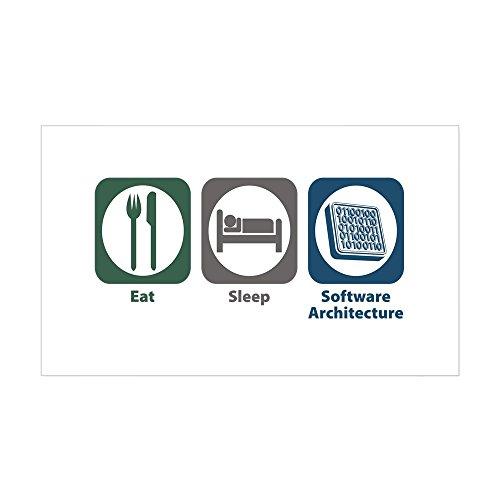 CafePress - Eat Sleep Software Architecture Sticker (Rectangle - Rectangle Bumper Sticker Car Decal