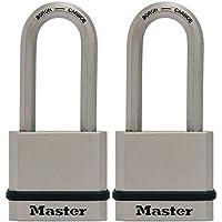 2-Pack Master Lock M530XTLH Magnum Solid Steel Keyed Alike Padlocks