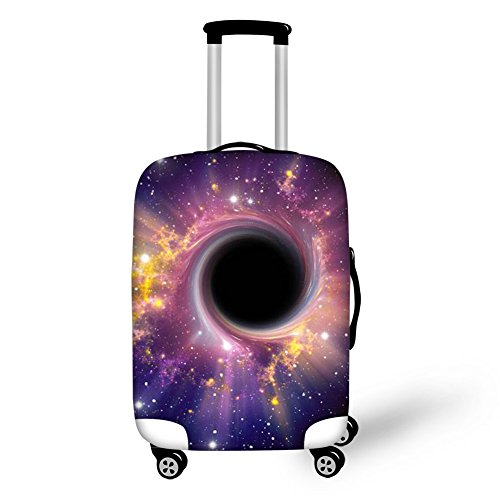 chaqlin Black Hole Design Cool Travel Luggage Protector CHAQLIN Suitcase Cover Case Fit for 22-24 inch Luggage