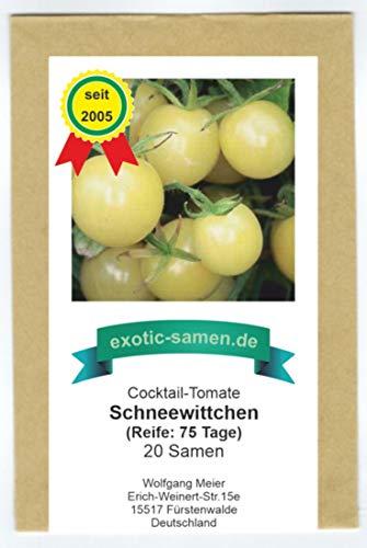 Weiße, süße, sehr saftige Cherry-Tomate - Schneewittchen - Snow white - 20 Samen