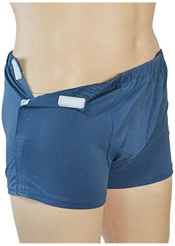 XHDMJ Patienten Wiederverwendbare Inkontinenz Hose, Inkontinenz Baumwolle Unterhosen Waschbar Ersatz Windelhosen,Blue,XXXL