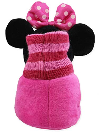 Minnie Mouse Disney Toddler Girls Plush 3D Minnie Head Sock Top Slippers