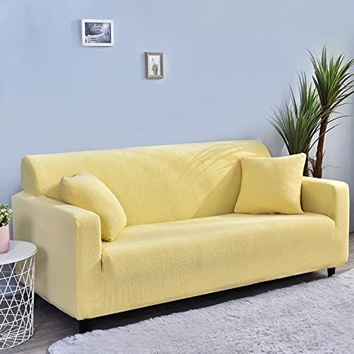 WXQY All-Inclusive-Stretch-Sofa-Schutzhülle rutschfeste L-förmige Ecksofa-Schutzhülle Haustier-Schutzsofabezug A7 1-Sitzer