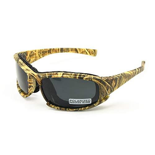 EnzoDate polarizado ejército Gafas de Sol, Gafas Militares 4 Lente Kit, Hombres Juego de Guerra táctica Gafas al Aire Libre…