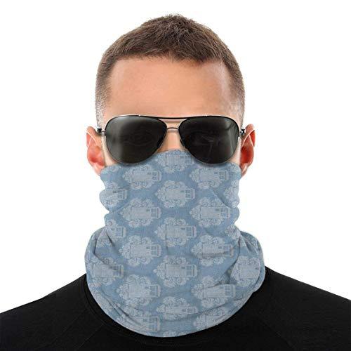 BDGAjdka Lovely Tardis Cute Pattern Face Face Scarf Seamless Bandanas Multifunctional Headwear For Men Women