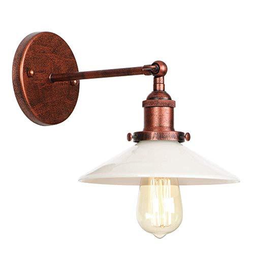 Columpio Industria retro brazo de metal lámpara de pared paraguas pantalla de cristal LED E27 ajustable de la vendimia del hierro de brazo giratorio aplique Dormitorio Cocina Sala de Estudio de pared