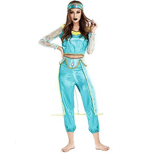 Disfraces de disfraces para Womenhalloween traje para mujeres adultas Aladdin y la lámpara mágica Cosplay disfraz princesa jazmín disfraz-como Show_M.