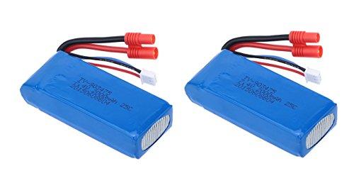 Pack 2 Baterias Lipo 7,4V. 2000Mah. para Drone Syma X8 X8C X8W X8G X8HC X8HG X8HW, Predator y similares