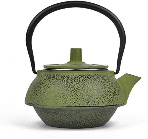 DZNOY Potes de té Teteras Esmaltado Iron Pot Kettle Lit Luchar Esmaltado Tetera de Hierro Fundido Acero Inoxidable Fuga de té Tetera