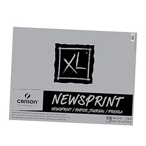 Canson Biggie Newsprint Pad - 18 x 24 Inches - 100 Sheet Pad