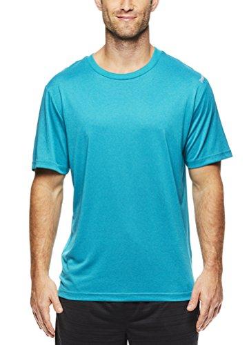 Reebok - Camiseta de entrenamiento para hombre, diseño de cuello redondo con material de rendimiento - REM171TS01VF037, Medium, Capri Breeze Heather
