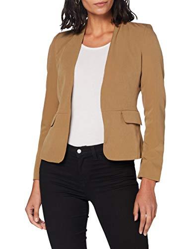 ONLY Damen ONLEBERTA-Theresa L/S Short TLR Blazer, Toasted Coconut, 38