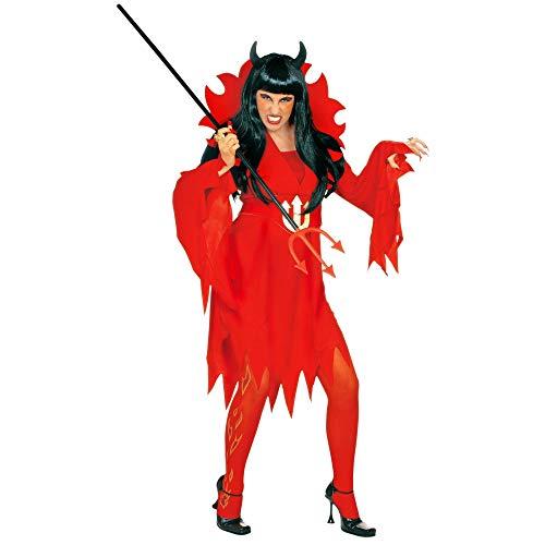 Widmann 3655J, Teufelin DamengröÃ?e S = 36/38, Kostüm bestehend aus Kleid,Gürtel und Maxikragen