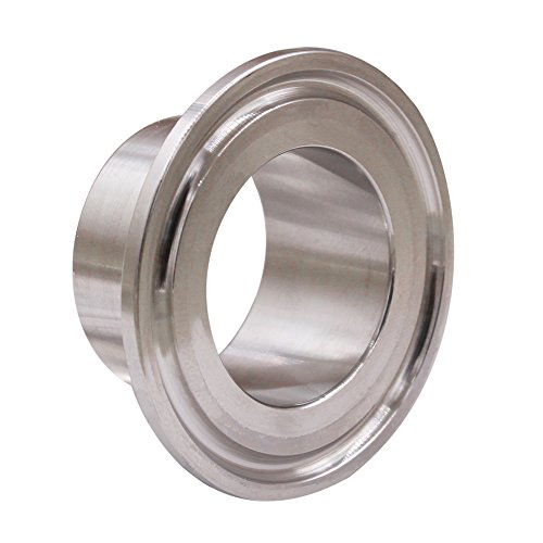 DERNORD Stainless Steel 304 Sanitary Fitting, Long Weld Clamp Ferrule FitsTri Clamp 1-1/4