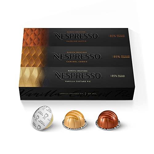 Nespresso Capsules VertuoLine, Flavored Variety Pack, Medium Roast Coffee