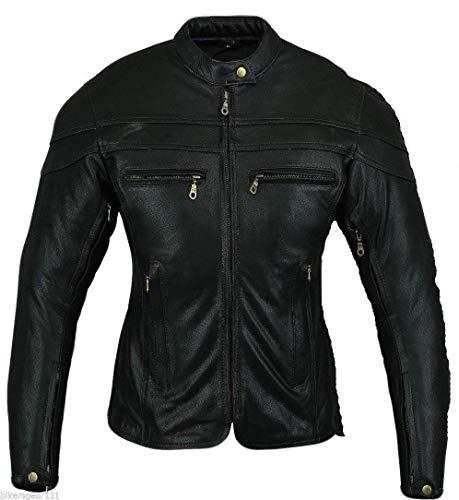 Australian Bikers Gear - Sturgis Tour - Damen Motorrad-Lederjacke - Protektoren - UK 14 (42 EU) (XL)