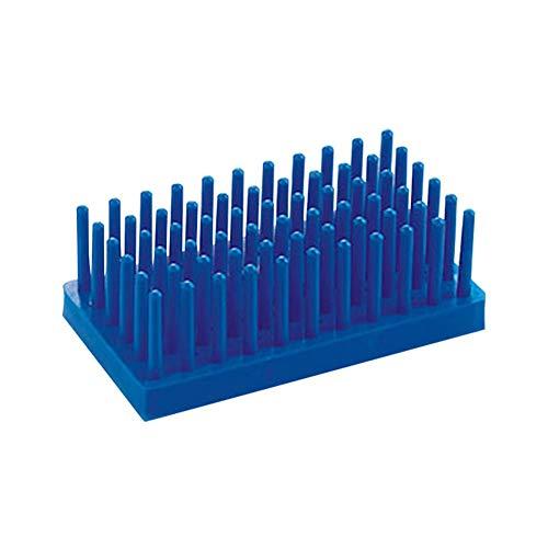Tansoole - Stütze Reagenzglasständer Reagenzglashalter Labor-Gefäßständer, Blau Zwei Verwendungszwecke, maxi Rohrdurchmesser 13mm
