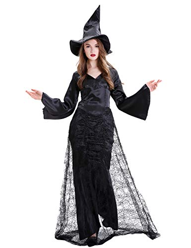 XINSH Disfraz Halloween Bruja Mujer Costume Cosplay Adulto para Carnaval Navidad Fiesta