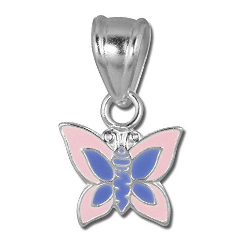 Teenie Weenie catene-ciondolo bambini ragazza farfalla rosa 925Argento Sterling sdh8102a