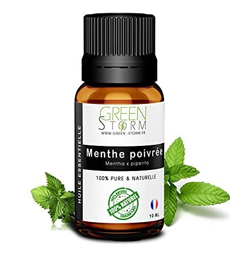 Huile essentielle de Menthe poivrée - 100% pure et naturelle - HEBBD - Green-storm - 10 ML