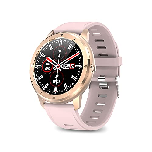 Ksix Smartwatch Multideporte Medidor de pulsaciones , Sumergible 1 m, Pantalla Full Touch 100% Redonda