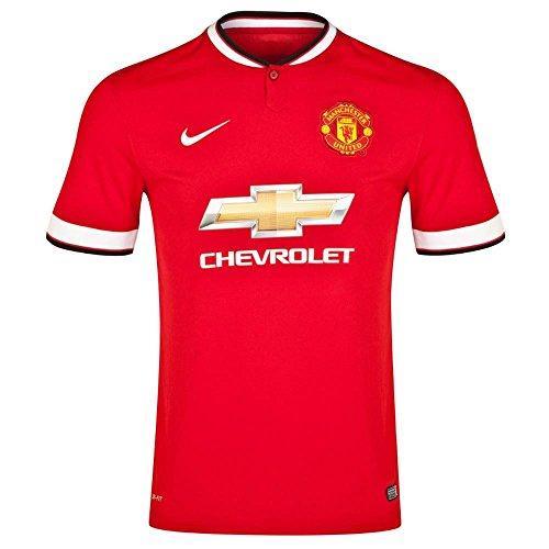 Nike Men's Manchester United F.C. Maillot de Football à Manches Courtes pour Homme Motif Matches à Domicile Large Rouge - Rouge