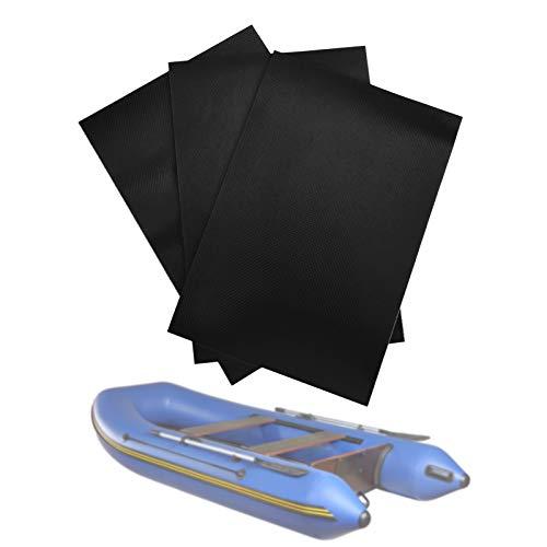 Parches para Piscinas, Parches para Brincolines Inflables, Kit de Reparación de Bote Inflable, Parche de Kayak Inflable, Parche de Reparación de PVC para Reparar Balsa Inflable, Juguete (Negro)