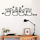 pegatinas decorativas pared Nueva animación de dibujos animados Vinilo Totoro calcomanías de pared para la habitación de los niños/baño decoración del hogar lindo