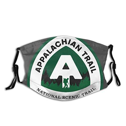 Niokre Protective mask-Appalachian Trail Souvenirs Suitable for Men and Women 1 PCS Black