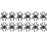 Kamenda 12 piezas de Halloween servilleta decoración araña papel toalla anillo hotel mesa comedor set occidental vajilla accesorios