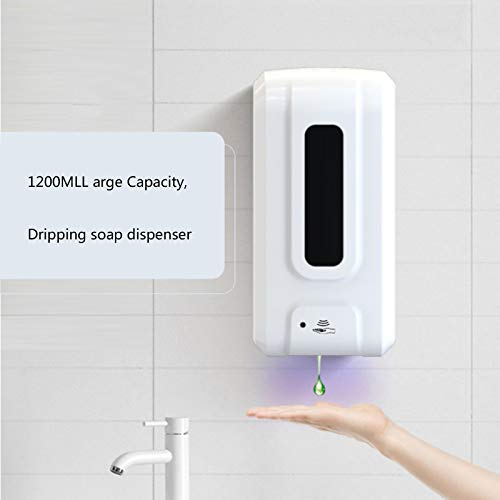 LUHUIYUAN 1200ML Automatic Soap Dispenser, Non-Contact Soap Dispenser, UV Sensor Hand Disinfection Machine, Wall-Mounted Hand Sanitizer Dispenser,Drip