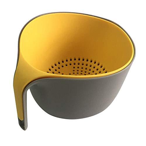 Greatangle Creativo plastica colino scolapasta scolapasta Multifunzione Cucchiaio Lavaggio Riso scolapasta Gadget da Cucina Utensili da Cucina Bianco