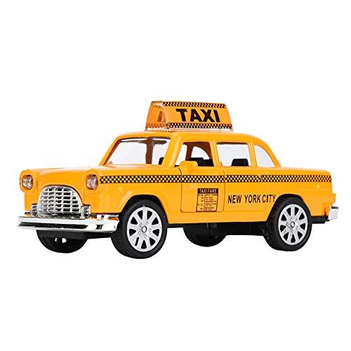 Zerodis Modelo de Taxi a Escala 1:32, simulación, Doble Puerta, aleación de Cabina, fundición a presión, Modelo de vehículo para niños, Juguetes para niños(Taxi A)