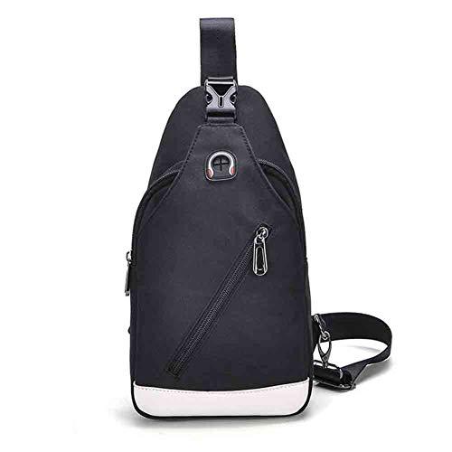Bolsa de pecho cruzada de los hombres de moda casual hombres bolso de hombro multifuncional bolsa de deporte, color Negro , tamaño 17cm * 7cm * 32 cm