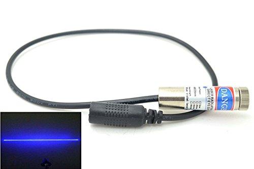 450nm 1000mW 1W láser azul puro módulo de línea 110 ° AC w / 12 × 45mm + soporte + adaptador